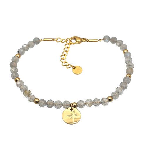 Bracelet perles Labradorite - IKITA