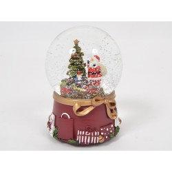 Noël bouge neige musicale 14 cm - Home edelweiss