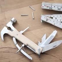 Portes-clés mini marteau multi-outils - Kikkerland