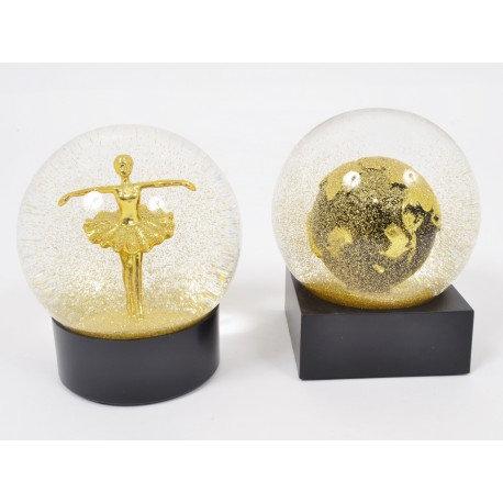 GOLD boule danseuse/mappemonde - Home edelweiss