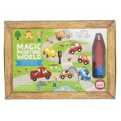Coloriage magique avec voitures