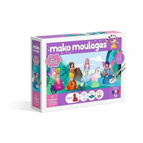Coffret 5 moules-- Mes Fées- Mako moulages