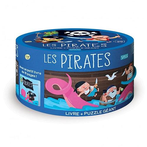 Livre et puzzle géant Les Pirates- SASSI