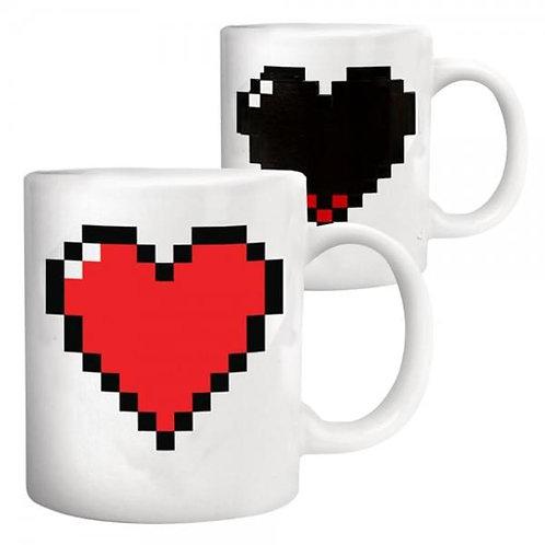 Mug Coeur Pixels Thermoréactif -KIKKERLAND