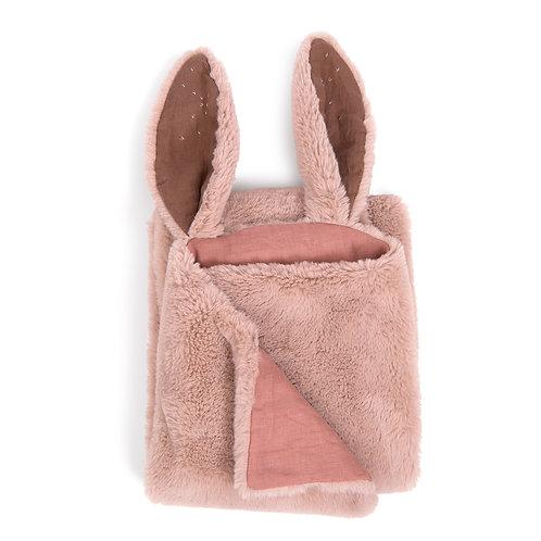 Plaid lapin rose Rendez-vous chemin du loup Moulin Roty
