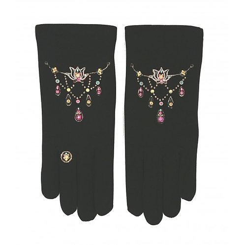 Gants - Bracelets Lotus noir - Quand les poules auront des gants