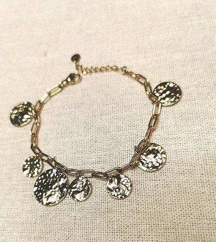 Bracelet petites et grandes médailles-ikita