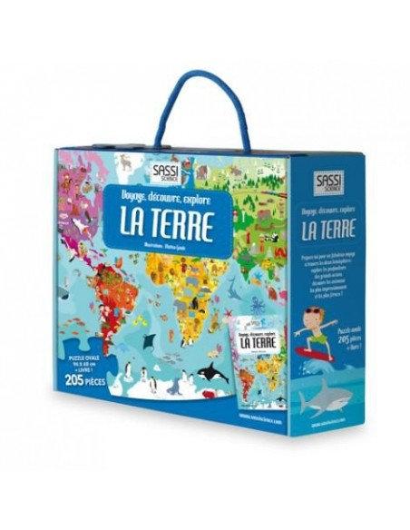 Coffret livre et puzzle La Terre - Sassi
