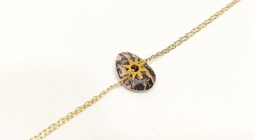 Bracelet pendentif en rhondonite - Ikita
