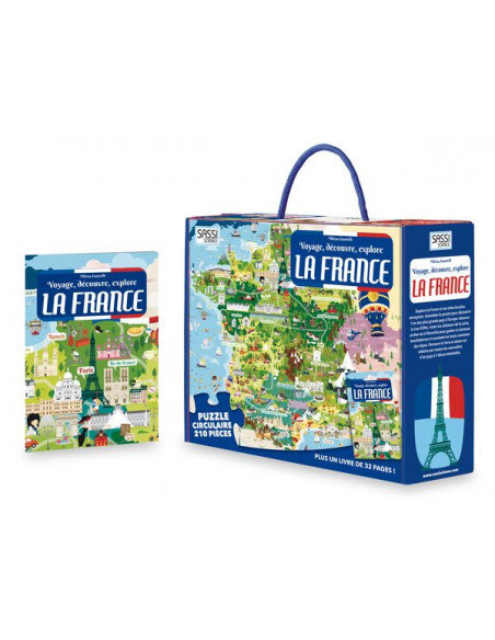 Coffret livre et puzzle La France - SASSI