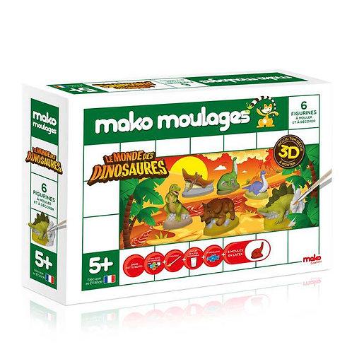 Coffret 6 figurines Le monde des dinosaures Mako Moulages