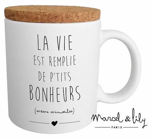 MUG - LA VIE EST REMPLIE DE PETITS BONHEURS - Marcel & Lily