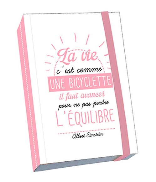"""Carnet """"La vie c'est comme une bicyclette..."""" -KIUB"""