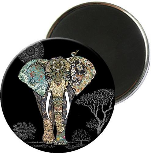 MAGNET ROND BUG ART JEWELS ELEPHANT