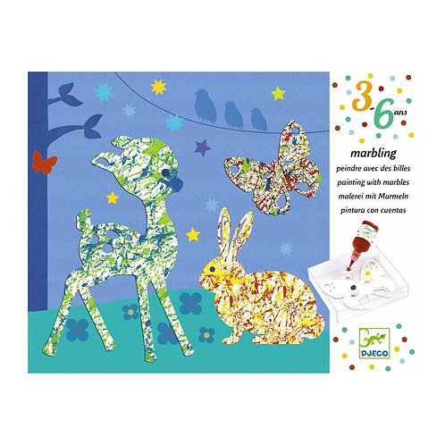 Peindre avec des billes 'Défilé multicolore' DJECO