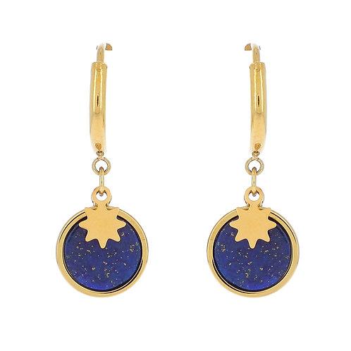 Boucles Edera Lapis Lazuli - Ikita
