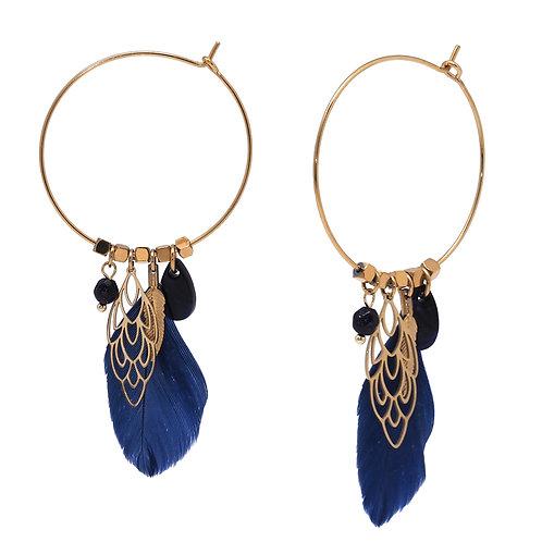 Créoles Cara Lapis Lazuli- Ikita