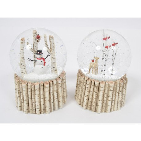 NATURE boule neige 10cm - Home edelweiss