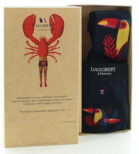 Coffre cadeau Toucan chaussettes et boxer - Dagobert