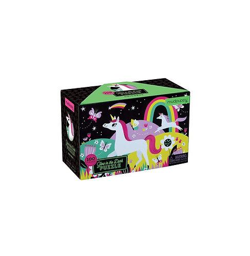 Puzzle glow in the dark licorne - bertoys