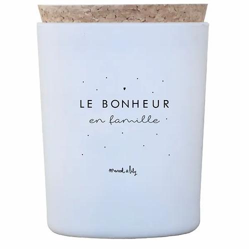 BOUGIE MIEL - LE BONHEUR EN FAMILLE - Marcel et Lily