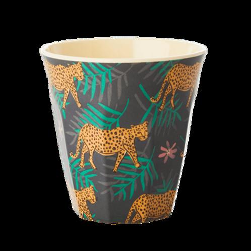 Tasse mélamine léopard et feuilles -Rice
