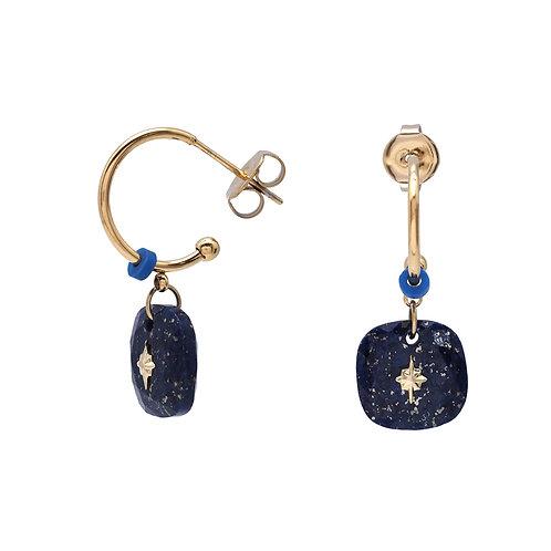 Boucles Mélanie Lapis Lazuli - Ikita