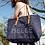 Thumbnail: SAC LYA SUEDINE LA VIE EST BELLE BLEU MARINE - Shacof