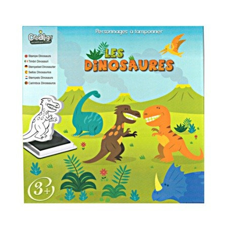 TAMPONS MOUSSE LES DINOSAURES, CREALIGN