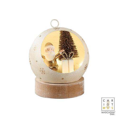 Boule led père Noël dorée - mascagni