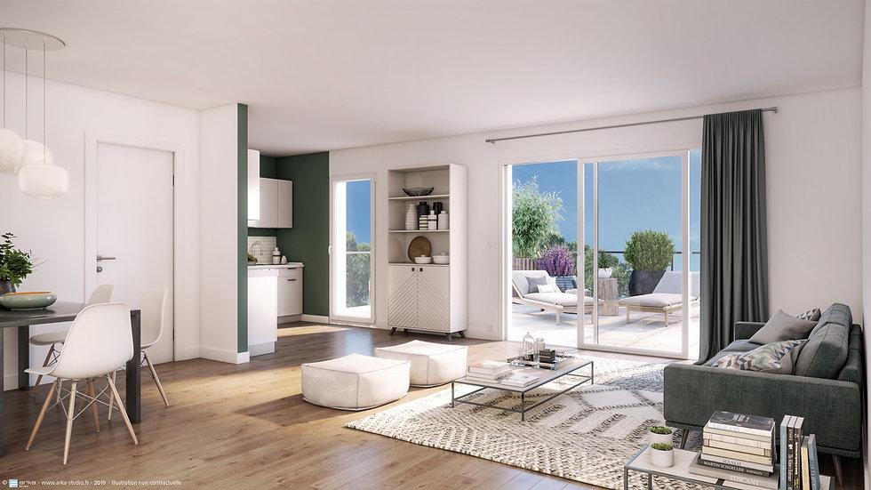 PORNICHET: splendide T3 avec balcon terrasse de 40 m2