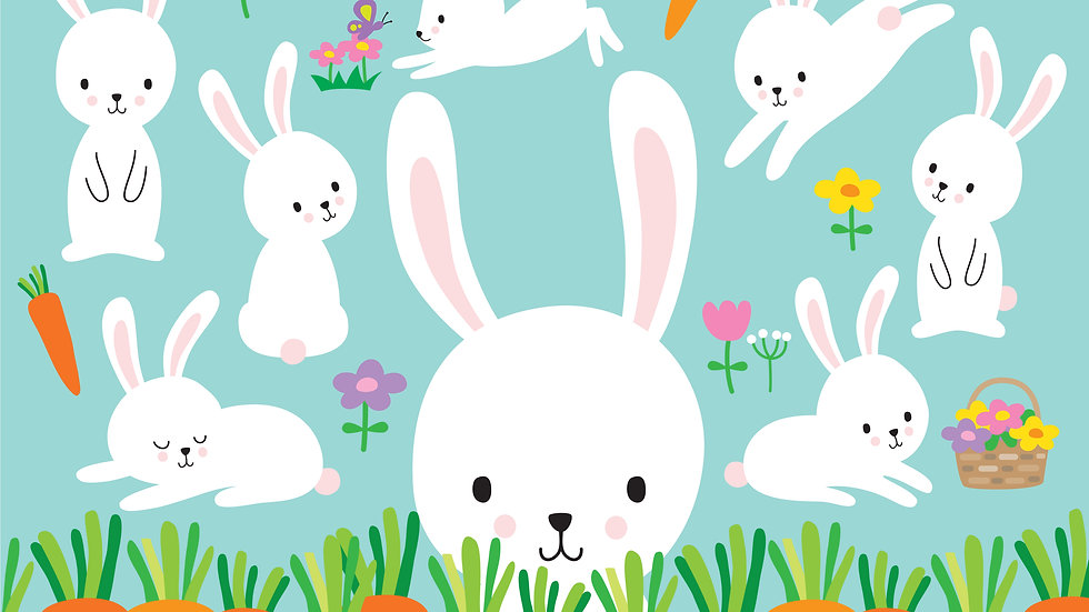 White Easter Bunnies