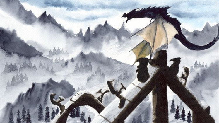 A Snow Dragon in the cold mountains