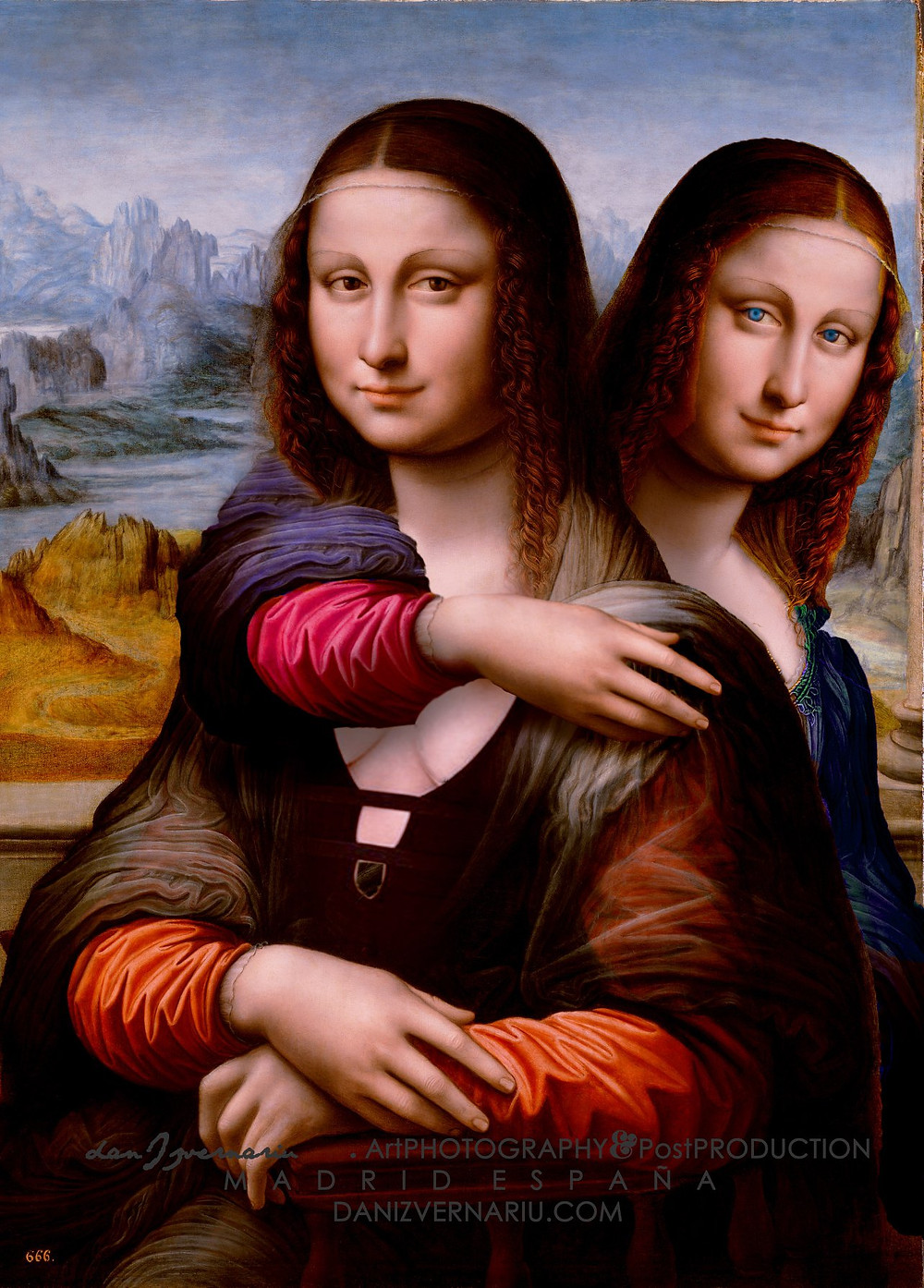 Gioconda & Monalisa _The sisters by Dan Izvernariu , Madrid, España 2019