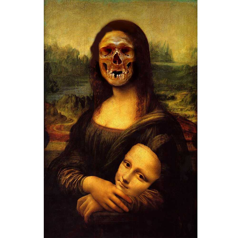 Mona Lisa face of Death by Dan Izvernariu ,Madrid , España