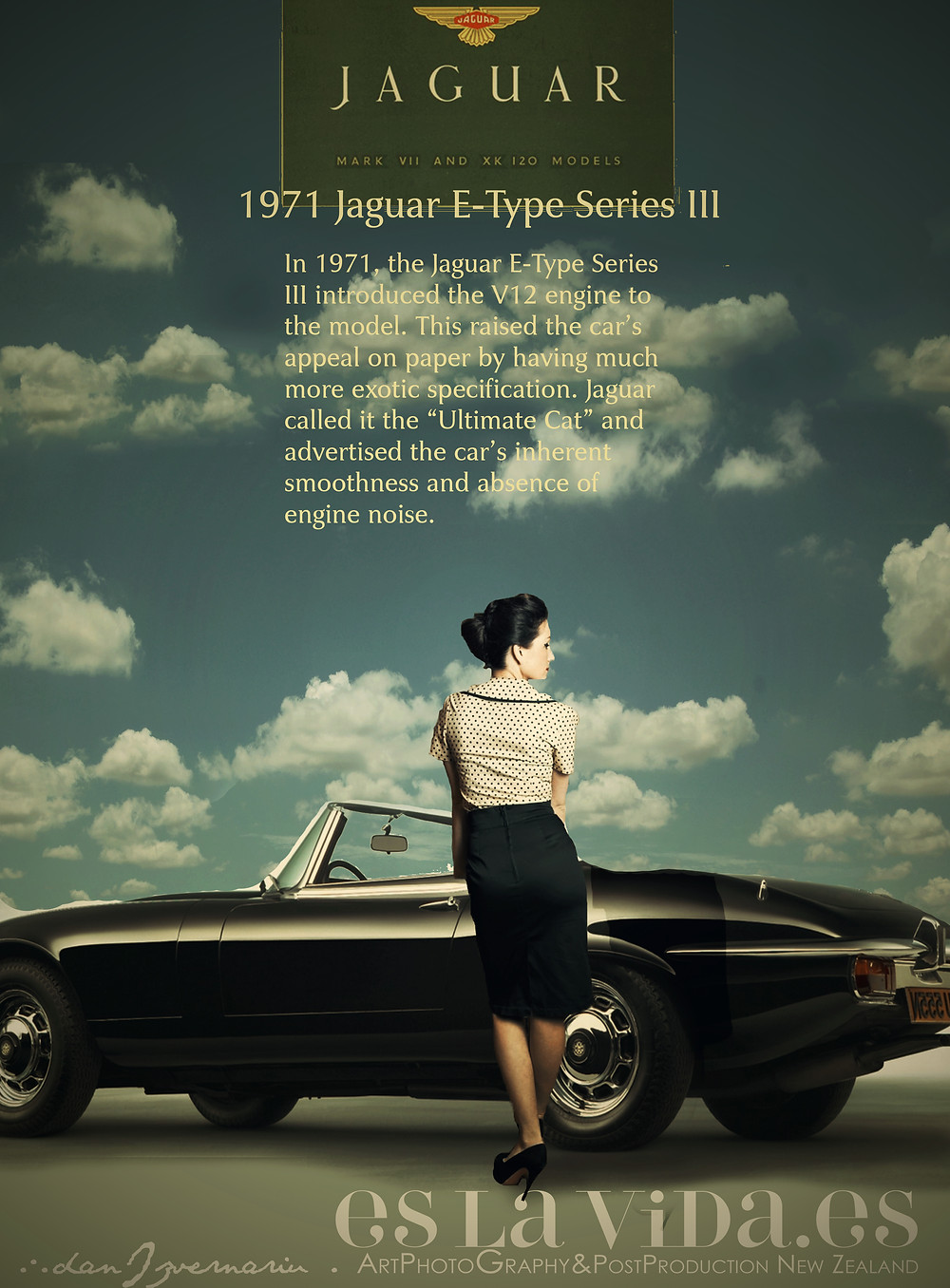 Jaguar Classic Cars -Poster, Post Production by Dan Izvernariu, Madrid 2017