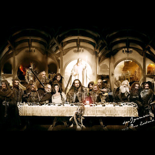 Last Supper of Hobbits, New Zealand Wellington 2013 by Dan Izvernariu