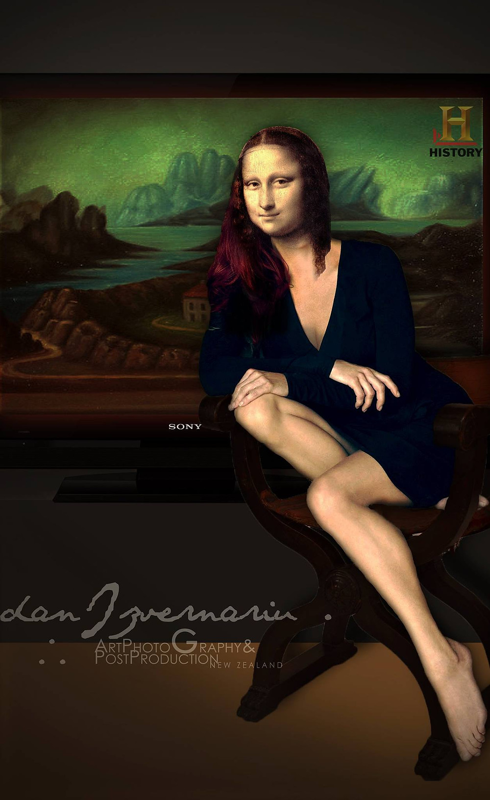 Mona Lisa plasma SONY by Dan Izvernariu, Madrid, España