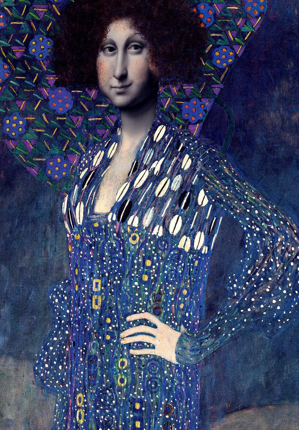 GIOCONDA IN BLUE, Alla Klimt Theme, Madrid 2014 by danIzvernariu.