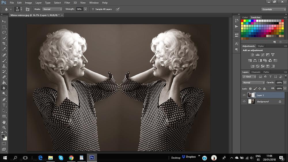 Adobe Photoshop screen copy , Dan Izvernariu works 2018 PsCs v.6