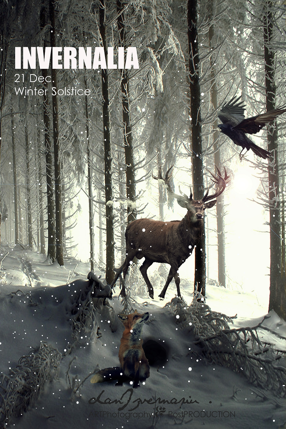 INVERNALIA / The Crow, Deer and Fox  DANIZVERNARIU.COM ArtPhotography&PostProduction, España