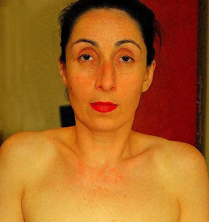 Doris Izvernariu as. Frida Kahlo Photoshop painting experiment 2009 Lisboa