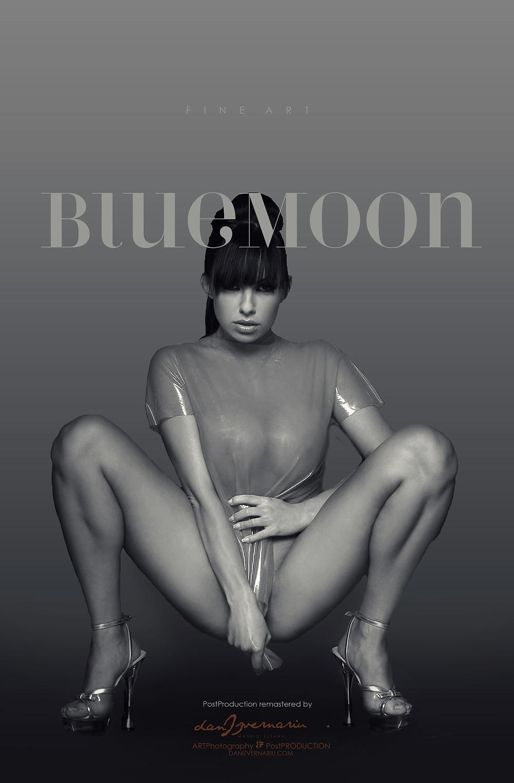 BlueMoon Post Production Collage in Photoshop 2019 danIzvernariu . Madrid , España
