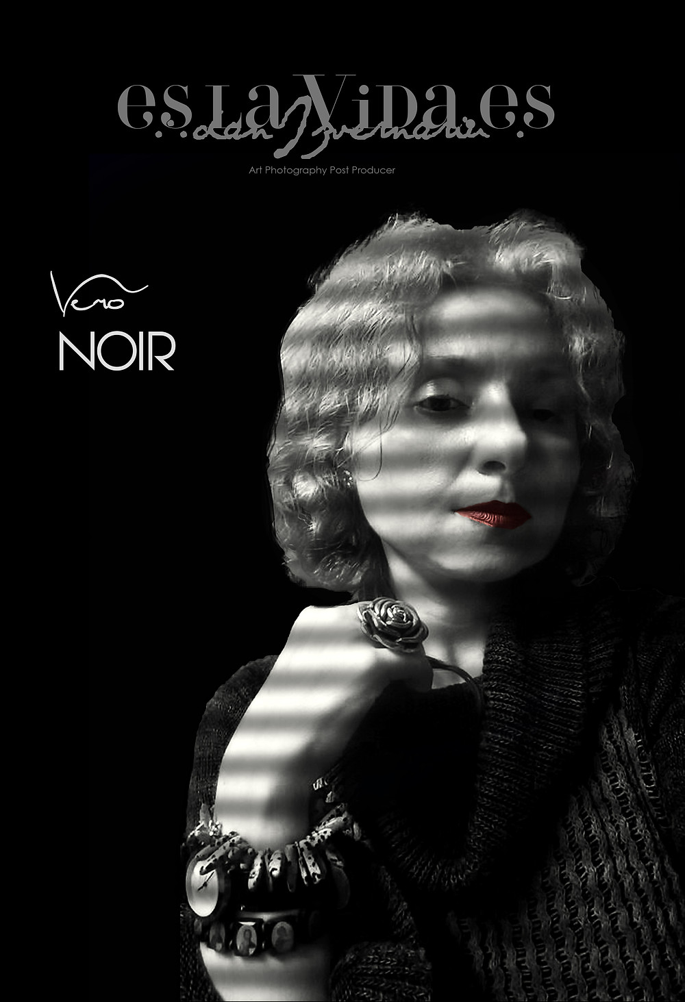 """Vero NOIR"", french noir portrait 1940, Post Production by Dan Izvernariu, Madrid Es Nov.2017"