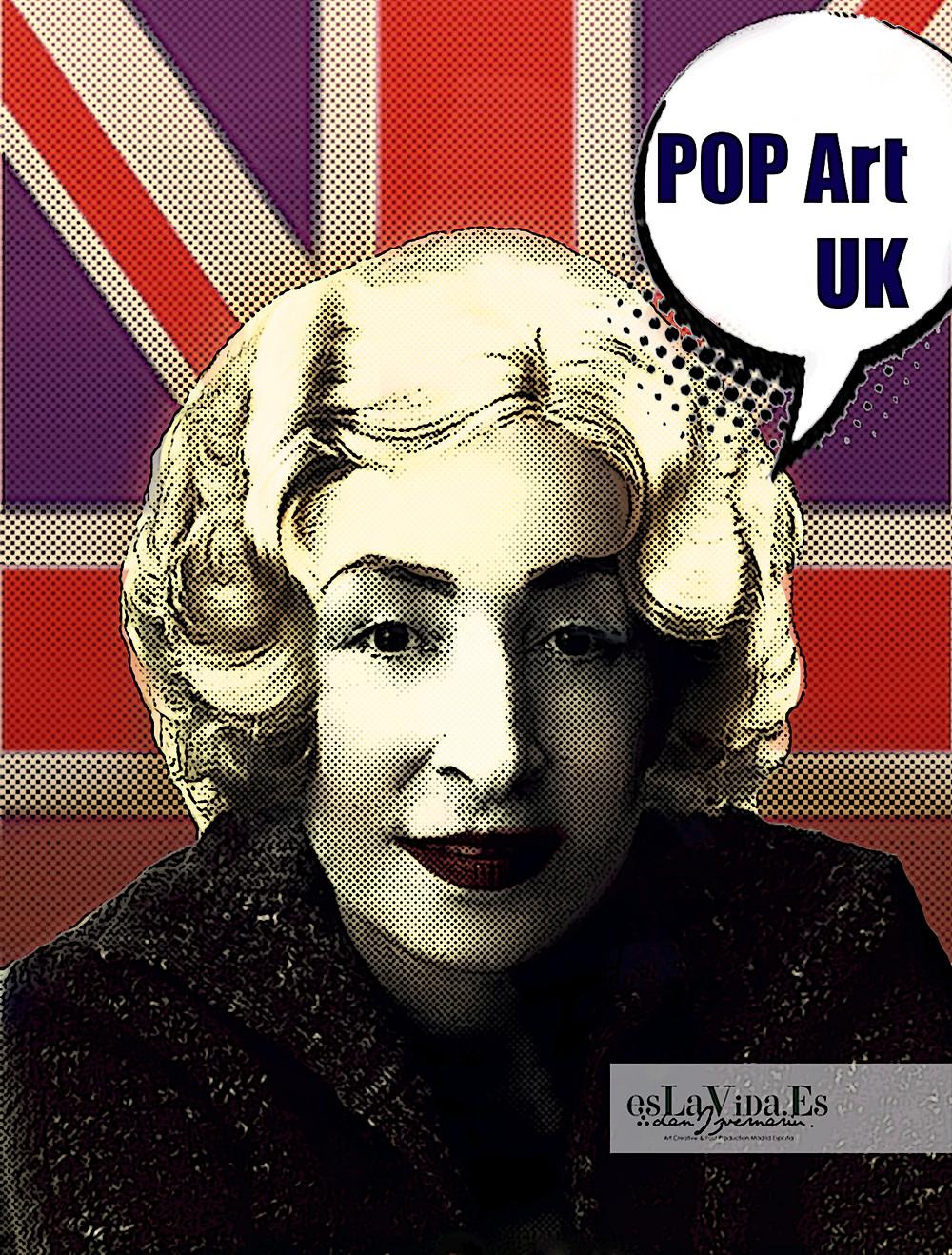 Cartoon Pop Up UK model: Doris Izvernariu PsCss illustration Dan Izvernariu