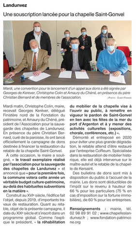 Ouest-France, 23 mars 2021