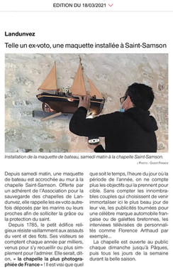 Ouest-France, 18 mars 2021