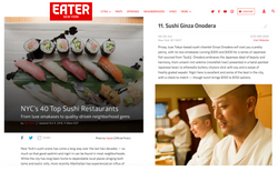 Eater NYC's 40 Top Sushi article