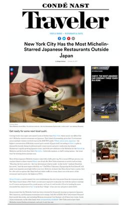 Condé Nast Traveler review page