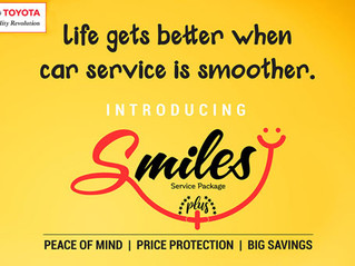 The new Smiles Plus Service package from Toyota!